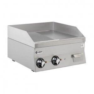 Wery elektrisk stekbord FTE 66 MC med 1/2 räfflad och 1/2 slät kromstål yta på 7